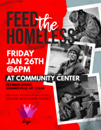 Feed The Homeless Flyer template
