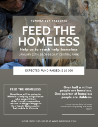 Feed the homeless Flyer Design Template