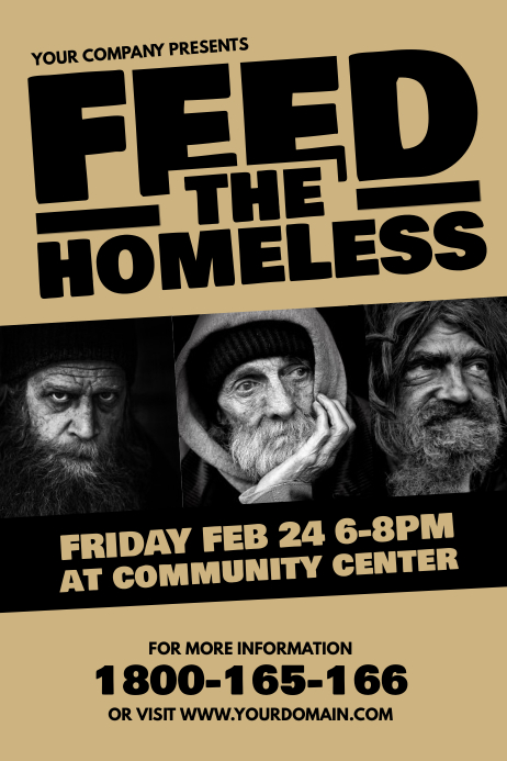 Feed The Homeless Fundraiser Template