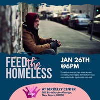 Feed The Homeless Instagram Post template