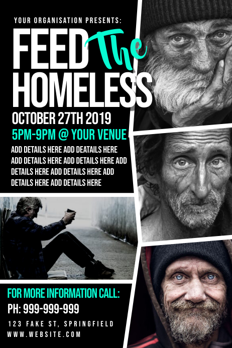 Feed The Homeless Poster