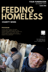 Feeding Homeless Flyer Template