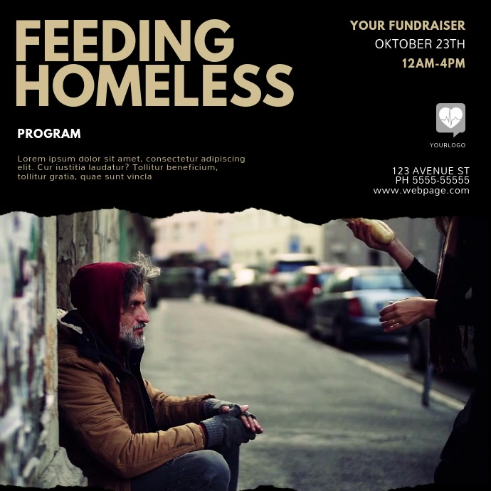 Feeding Homeless video Template