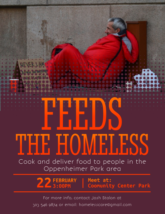 Feeds The Homeless Flyer