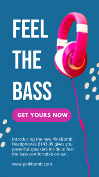 Feel the bass - Product display ad Instagram-verhaal template