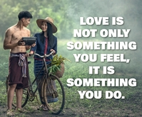 FEELING OF LOVE QUOTE TEMPLATE Medium Rectangle