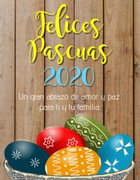 Felices Pascuas 2020 volante
