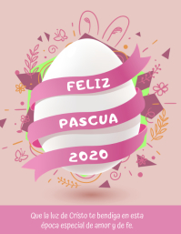 Felices Pascuas 2020 volante tarjeta Flyer (US-Letter) template