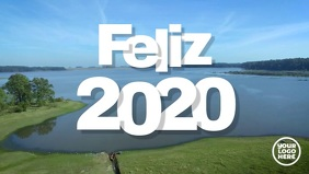 Feliz 2020 Video de año nuevo Facebook-Covervideo (16:9) template