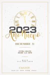 FELIZ AÑO NUEVO Flyer Template 横幅 4' × 6'