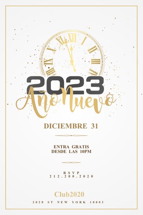 FELIZ AÑO NUEVO Flyer Template