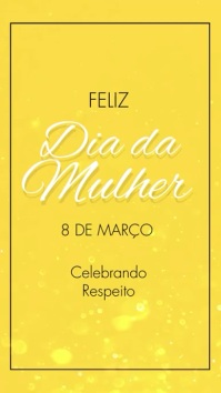 Feliz Dia da Mulher instagram story video Digitalt display (9:16) template