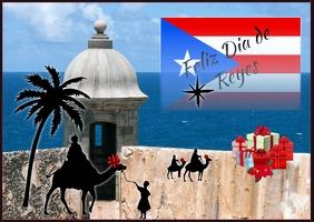 Feliz Dia de Reyes Postcard
