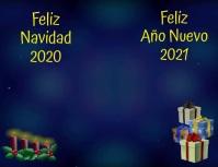 Feliz Navidad 2020 Feliz Año Nuevo 2021 Flyer (format US Letter) template