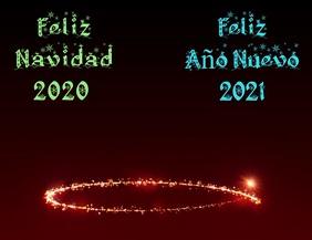 Feliz Navidad 2020 y Feliz Año Nuevo 2021 Ulotka (US Letter) template