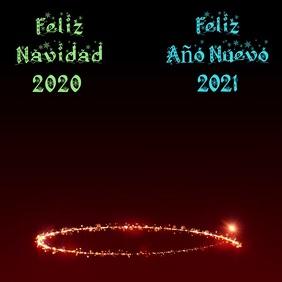 Feliz Navidad 2020 y Feliz Año Nuevo 2021 Instagram Plasing template