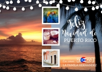 Feliz Navidad De Puerto Rico Photo Postcard Postkarte template