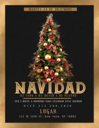 FELIZ NAVIDAD Party Flyer Template