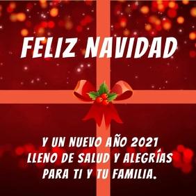 Feliz Navidad y Año Nuevo 2021 con video โพสต์บน Instagram template