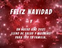 Feliz Navidad y Año Nuevo 2021 con video Volantino (US Letter) template