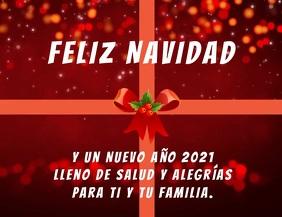 Feliz Navidad y Año Nuevo 2021 con video ใบปลิว (US Letter) template