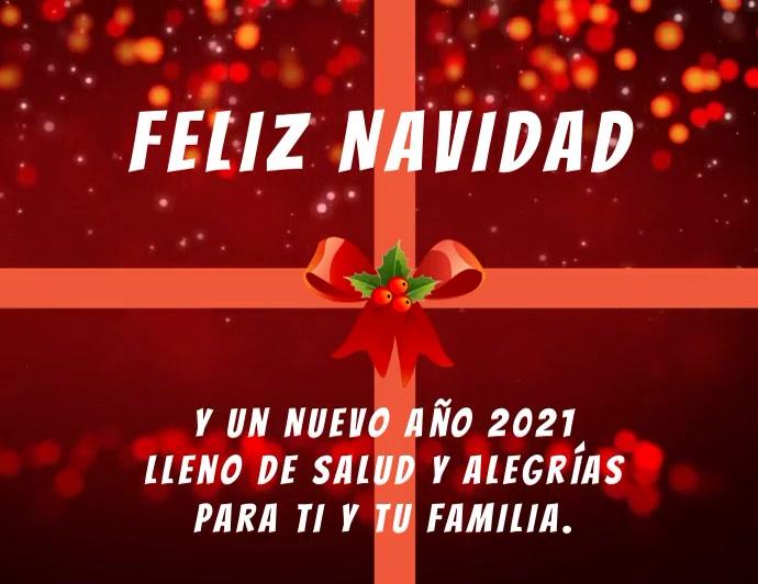 Feliz Navidad y Año Nuevo 2021 con video Flyer (US-Letter) template