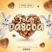 Feliz Pascoa Ads Logo template