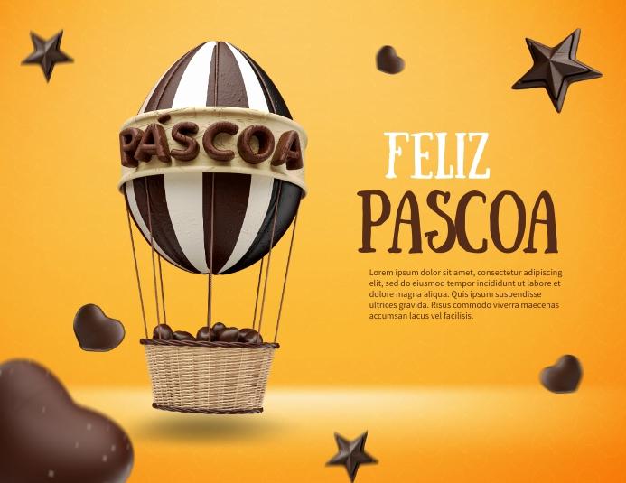 Feliz Pascoa Folder (US Letter) template