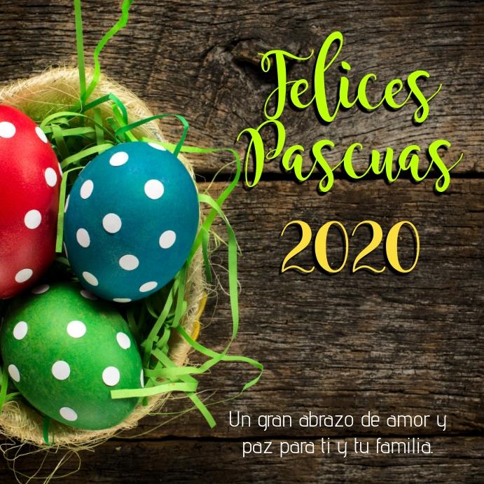 Feliz Pascua 2020 con huevos de pascua