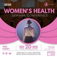 Female Health Conference Advertisement Cuadrado (1:1) template