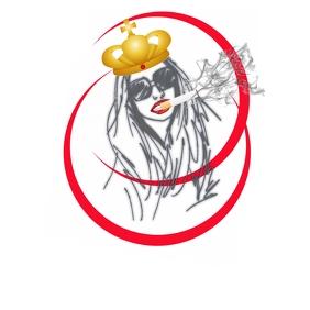 Female Smoker Art Логотип template