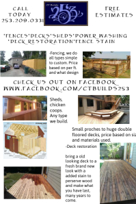 Fence and Deck template flyer