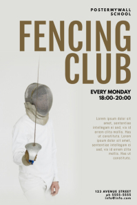 Fencing Club Flyer Template
