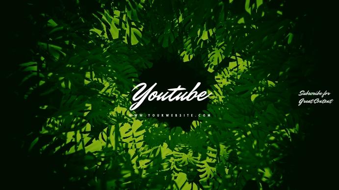 Fern Green Youtube Channel Art Banner Coverfoto til YouTube-kanal template
