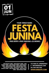 Festa Junina Poster template