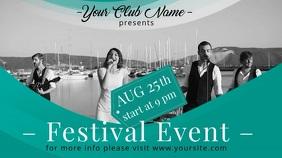 Festival Concert Video Ad Template Pantalla Digital (16:9)