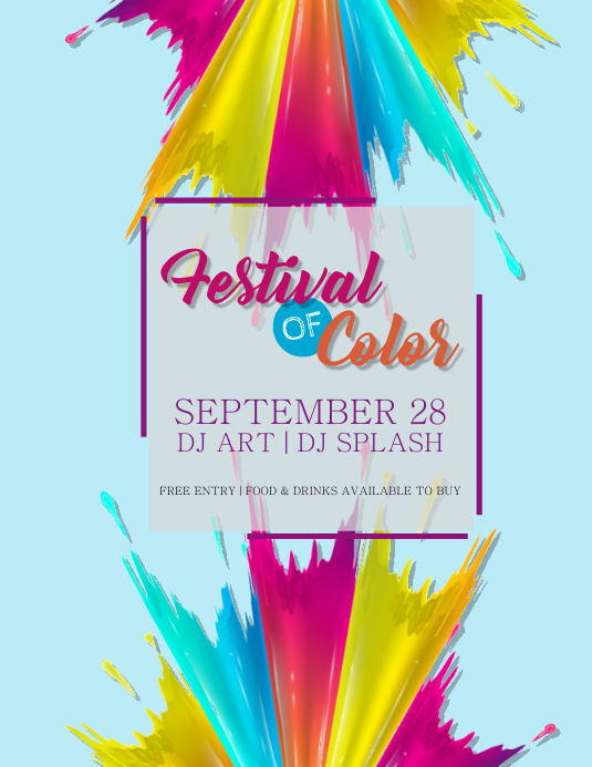 Festival of Color Flyer Template