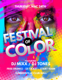 Festival Of Color Flyer