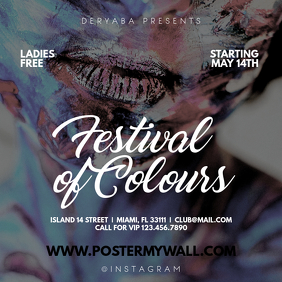Festival of Colours Instagram Post Template