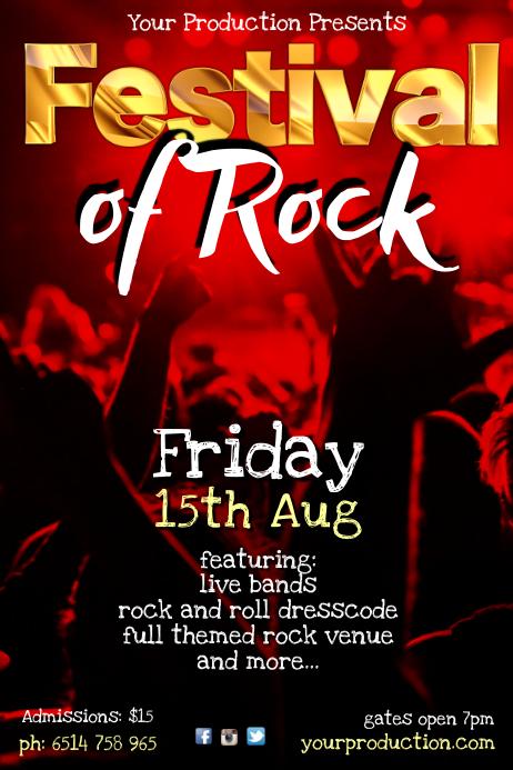 Festival of Rock Poster