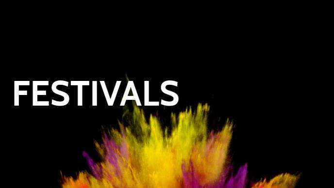 Festivals video poster template Facebook-omslagvideo (16:9)