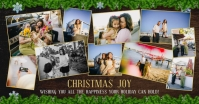 Festive Christmas Family Collage Facebook Pos template