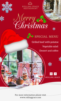 Festive Holiday Christmas Menu Template формат US Legal (Стандарт США)
