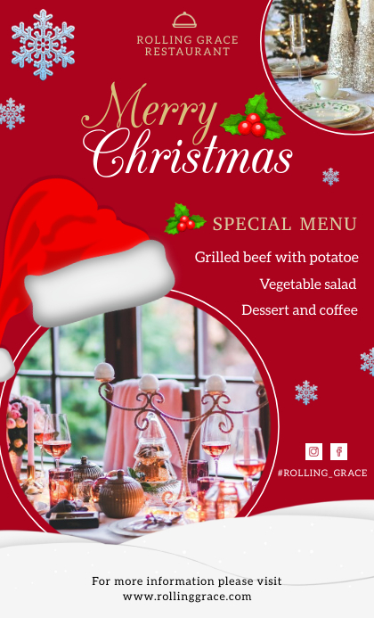 Festive Holiday Christmas Menu Template US Legal
