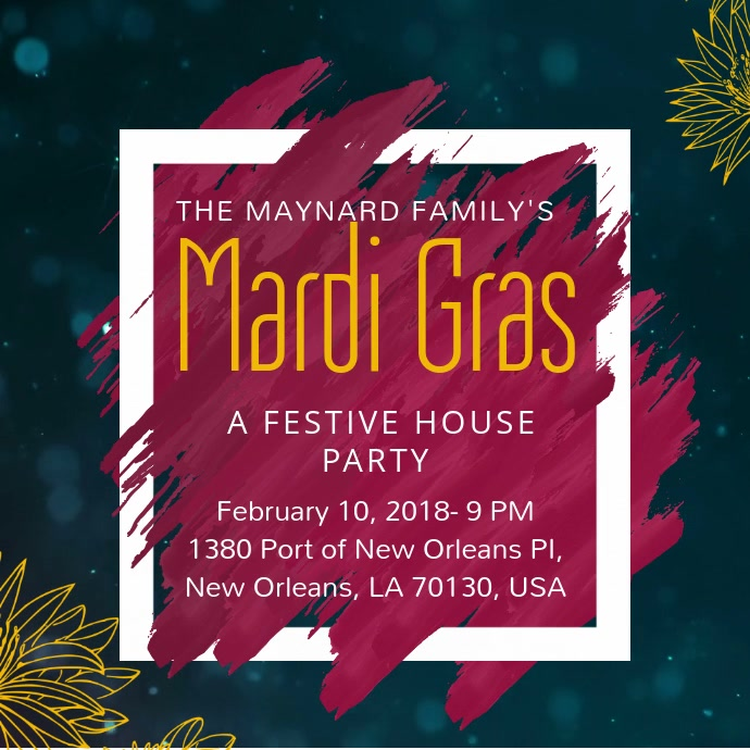 Festive Mardi Gras Instagram Video Template