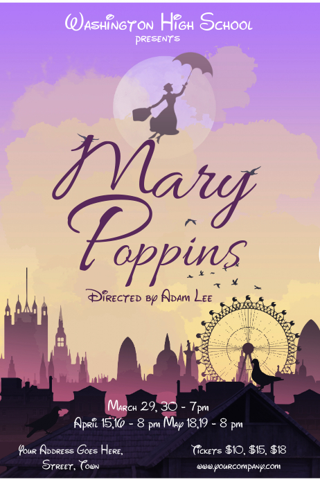Mary Poppins Movie Poster 24in x 36in