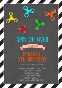 Fidget birthday party invitation