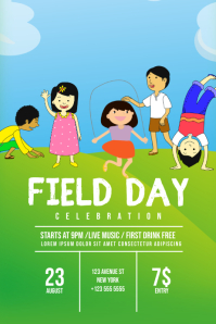 Field Day Flyer Template Poster