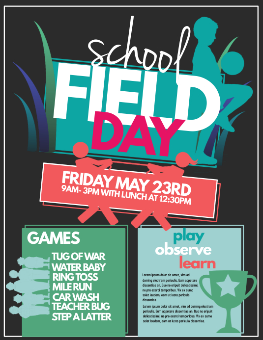 Sports day poster template image collections template for Sports day poster template