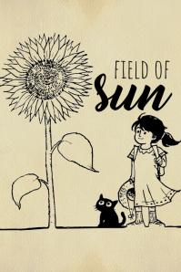Field of Sun Poster template